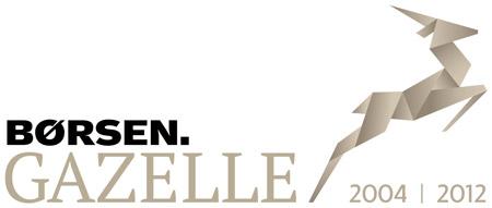 Logo tilhørende Børsen Gazelle vedr. Microdata IT rådgivning