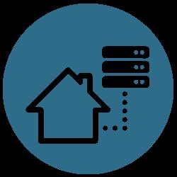 Illustration af managed server hosting løsning hos Microdata