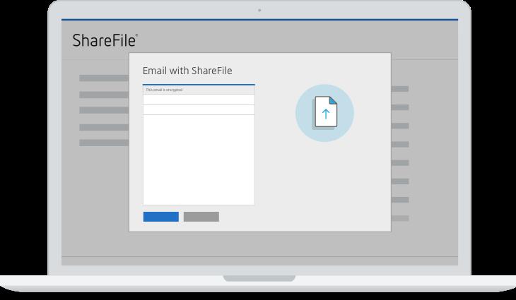 Illustration af e-mails i Sharefile