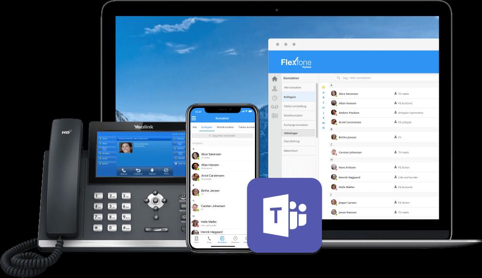 Billede af Flexfone telefon på iPhone, tablet og laptop